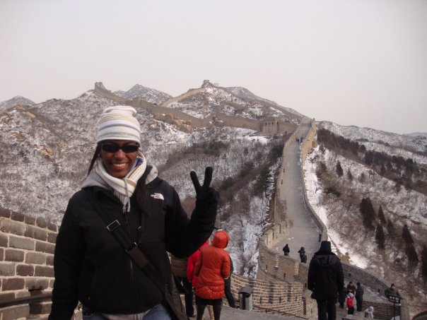 Adelphi business student at the Great Wall of China