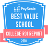 Payscale Best ValueSchool College ROI Report Badge
